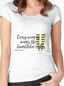 The Bumblebee Tights| Me Before You- Jojo Moyes Women's Fitted Scoop T-Shirt