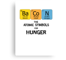 Atomic Symbol for Hunger Canvas Print