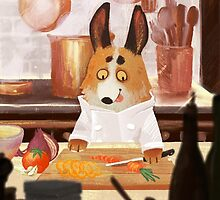 Corgi Chef by karmabees