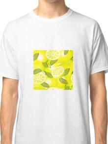Lemon background Classic T-Shirt