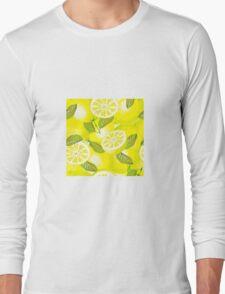 Lemon background Long Sleeve T-Shirt