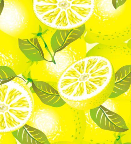 Lemon background Sticker