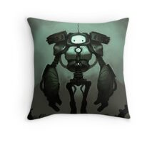 Sad Robot Throw Pillow