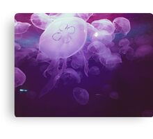 Oil Painted Jellyfish Canvas Print