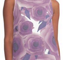 Seamless textile design Roses. Contrast Tank
