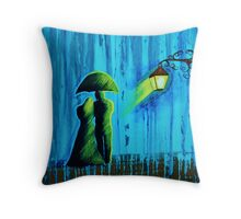 Aglow in the Rain Throw Pillow
