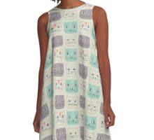 Faces of Cat  A-Line Dress