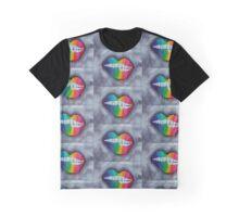 Rainbow Lips Graphic T-Shirt