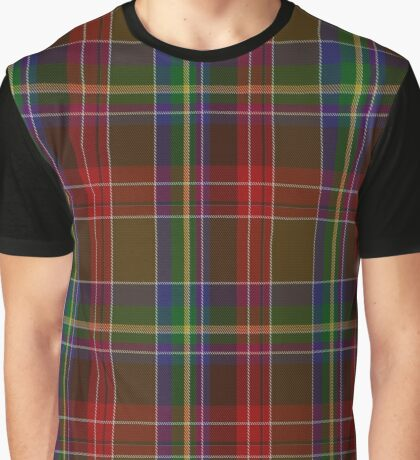 01307 Baltimore Charles Fashion Tartan Graphic T-Shirt