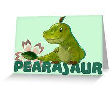 Dino fruit Greeting Card
