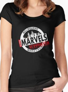 Melbourne Marvel Supporters Range white  Women's Fitted Scoop T-Shirt