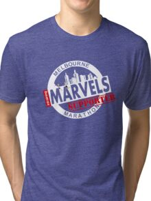 Melbourne Marvel Supporters Range white  Tri-blend T-Shirt