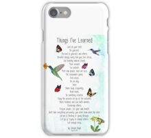 Things I've Learned iPhone Case/Skin