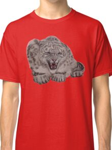 Snow Leopard - 'Protective Mother' Classic T-Shirt