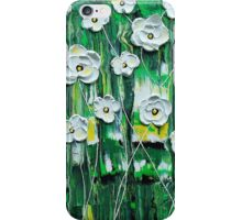 Emerald Rain Blossoms iPhone Case/Skin