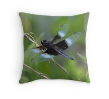 Widow skimmer dragonfly Throw Pillow
