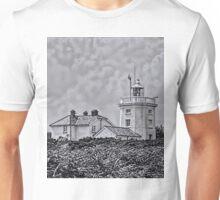 Cromer Lighthouse Black and White Unisex T-Shirt