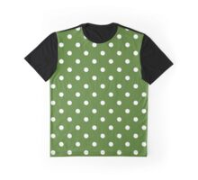 Pretty In Green Polkadots Graphic T-Shirt