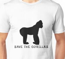 Save the Gorillas! .  Unisex T-Shirt