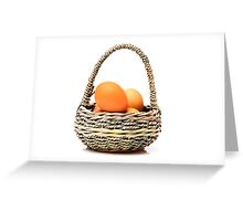 eggs in one basket Greeting Card