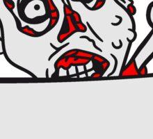 holzschild mauer wand klettern rahmen schild text team party zombies böse ekelig monster horror halloween zombie design  Sticker