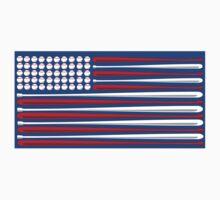 Baseball Flag One Piece - Long Sleeve