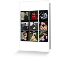 Outlander filmstrips Greeting Card
