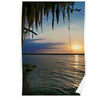 Flat Lake Sunset - Atchafalaya Basin Poster