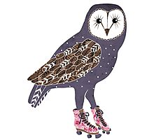 I skate OWL night long Photographic Print