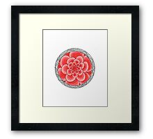 flower with striped round pink Framed Print