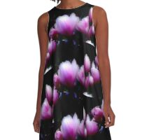glowing majenta A-Line Dress