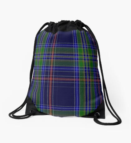 01303 Memphis Midnight Fashion Tartan  Drawstring Bag