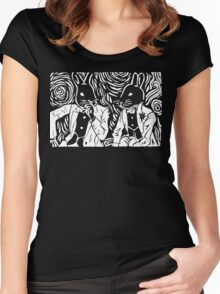 SPLIT HARES (white) Women's Fitted Scoop T-Shirt