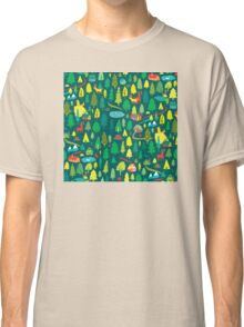 Green Forest Pattern Classic T-Shirt