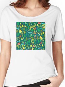 Green Forest Pattern Women's Relaxed Fit T-Shirt