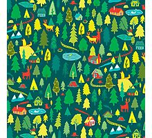 Green Forest Pattern Photographic Print