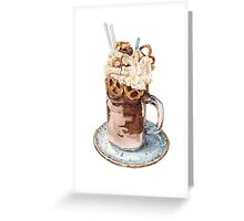 Nutella Freakshake Greeting Card