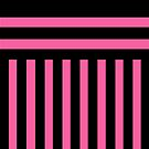 Black and Deep Rose Stripes by Greenbaby