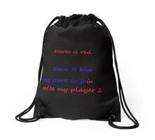 video game poem Drawstring Bag
