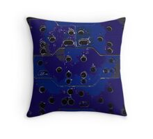 Rust With Holes Blue Throw Pillow