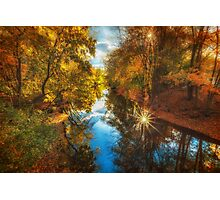 Fall filtered reflections Photographic Print