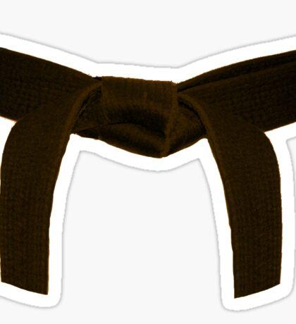 Martial Arts Brown Belt Sticker