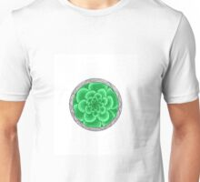 flower with striped round green Unisex T-Shirt