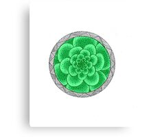 flower with striped round green Canvas Print