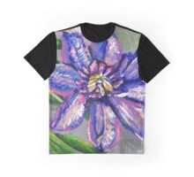 Purple Flower Graphic T-Shirt