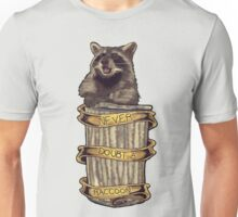 Never doubt a raccoon (grey) Unisex T-Shirt