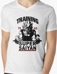 Training to go ssj Mens V-Neck T-Shirt