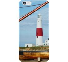 A different view of Portland Bill lighthouse iPhone Case/Skin