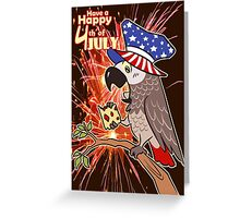Bird USA Independence day 4th July Greeting Card