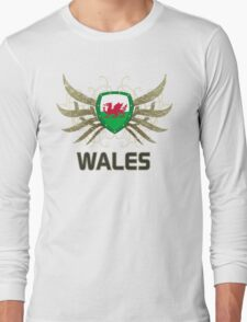 Wales Euro 2016 | Print ID 1-2 [white] Long Sleeve T-Shirt